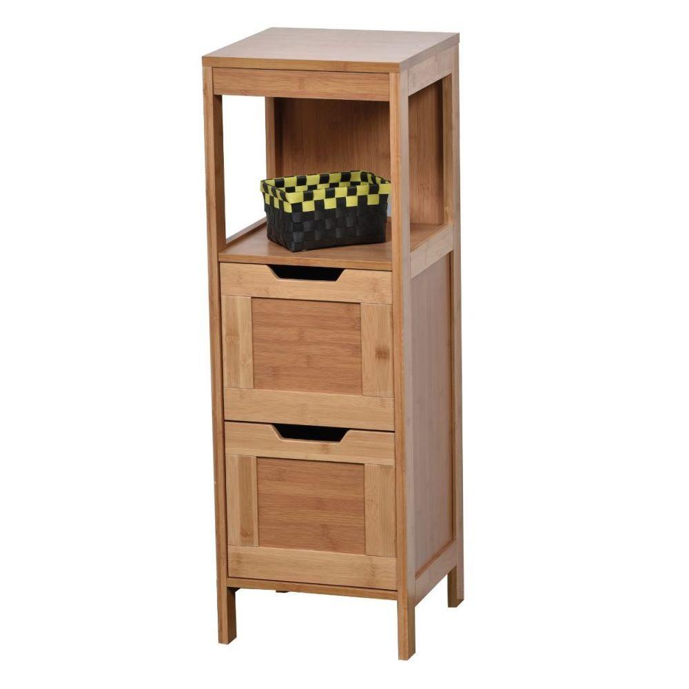 tendance meuble bas 2 tiroirs en bambou collection mahe