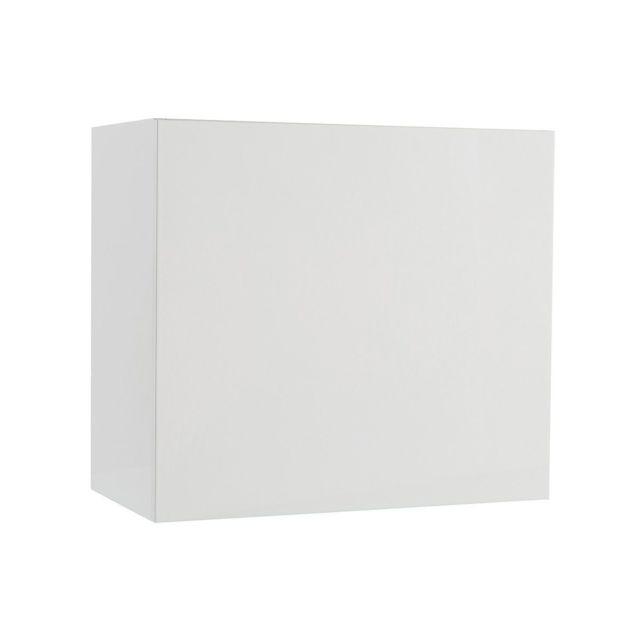 element mural colored carre laque blanc