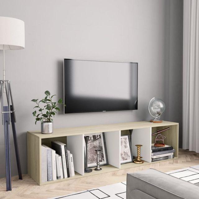 esthetique etageres edition mogadiscio bibliotheque meuble tv blanc et chene