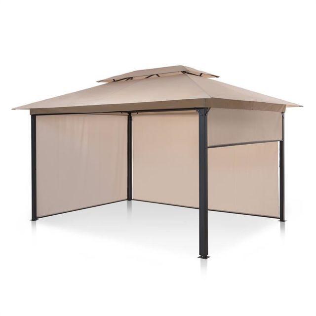 blumfeldt grandezza cortina pavillon de jardin 3x4 m 4 parois laterales