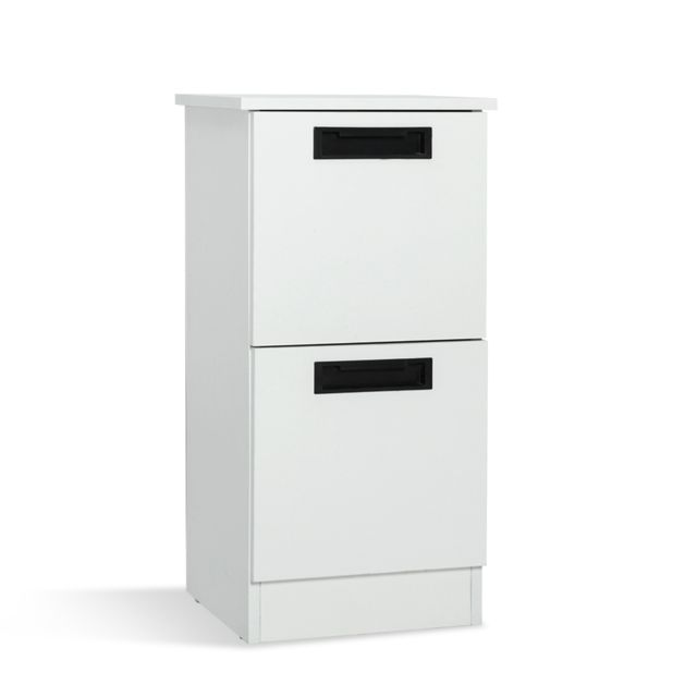 meuble de salle de bain sur pieds meuble de rangement 2 tiroirs brillant
