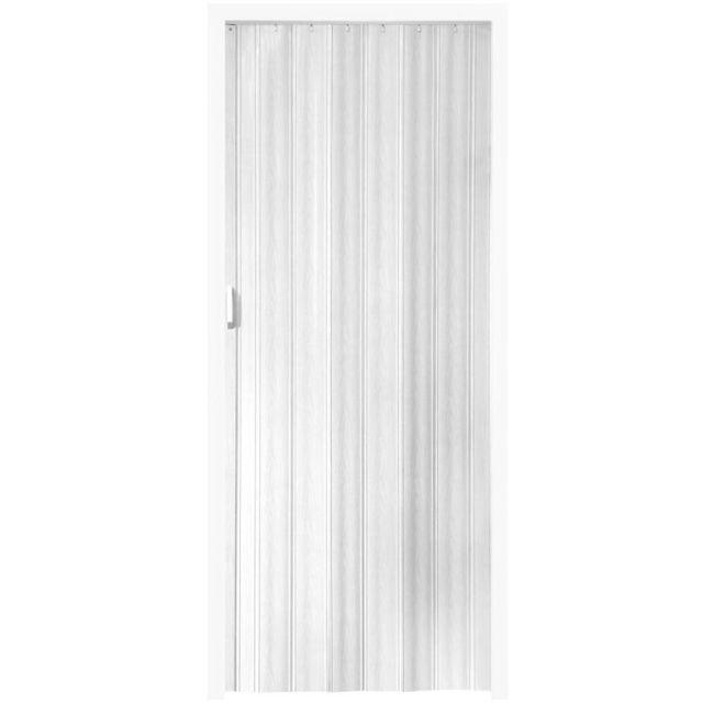 porte accordeon pliante pvc salle de bain extensible coulissante largeur 80 cm