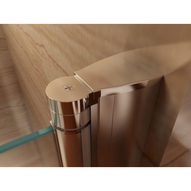 porte de douche hauteur 185 cm largeur reglable verre depoli avec