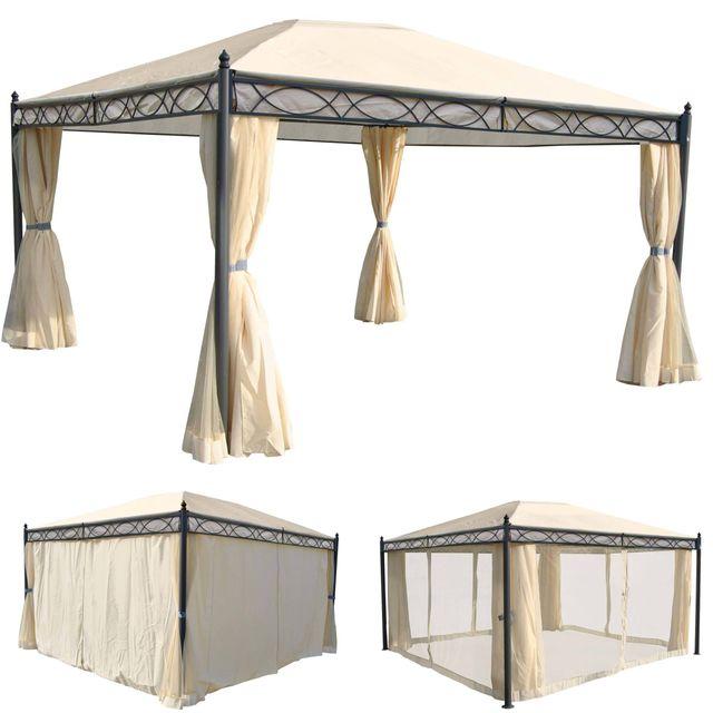 pergola cadiz pavillon de jardin cadre stable a 7cm avec paroi et
