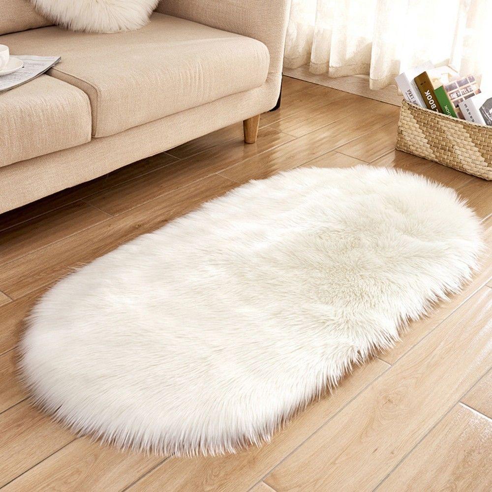 generic couverture de chaise de tapis doux laine de mouton artificielle chaud tapis poilu tapis de siege tapis blanc