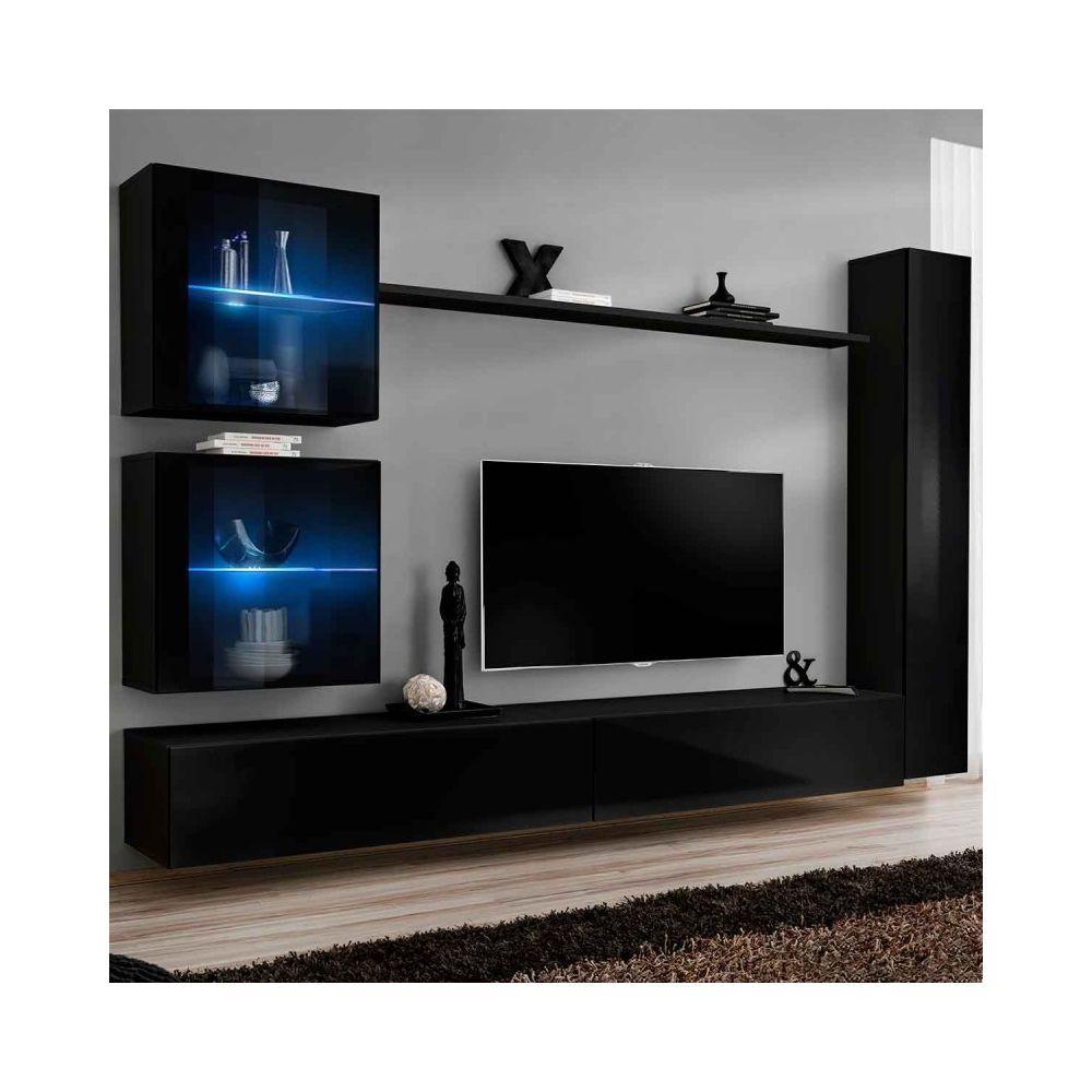 paris prix meuble tv mural design switch xviii 280cm noir