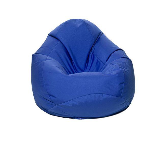 pouf xxl forme poire bleu scuba
