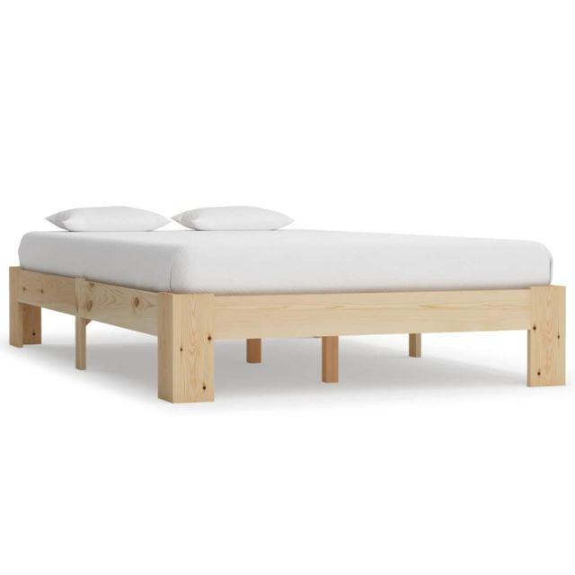 splendide lits accessoires selection amman cadre de lit bois de pin massif 120