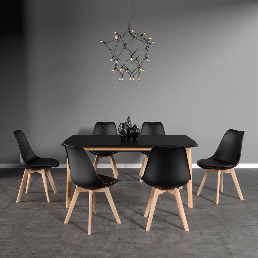 chaises scandinave noir nora