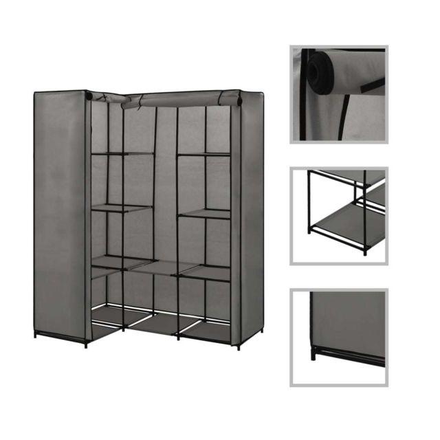 sublime armoires meubles de rangement edition majuro garde robe d angle gris