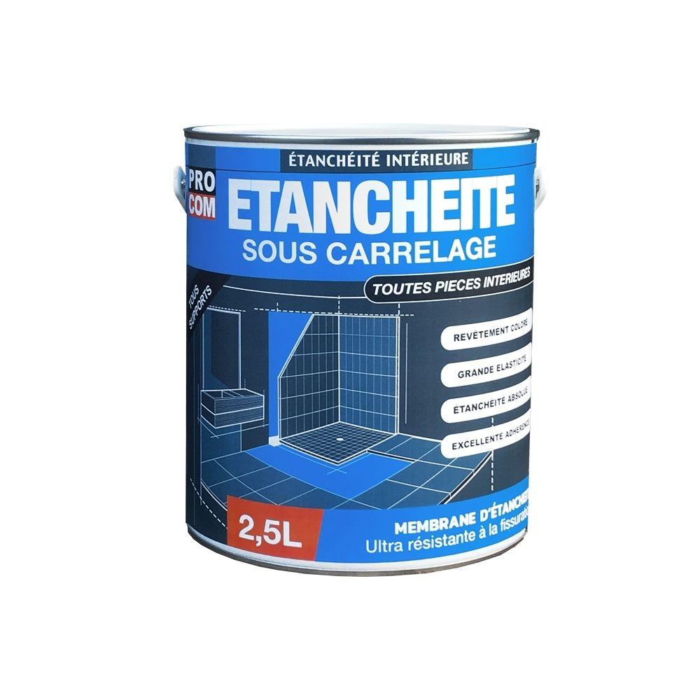procom etancheite sous carrelage douche salle de bain cuisine piece humide impermeabilisation protection a l eau procom 10 litres
