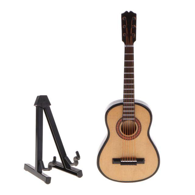 miniature instrument de musique en bois pour guitare 15cm