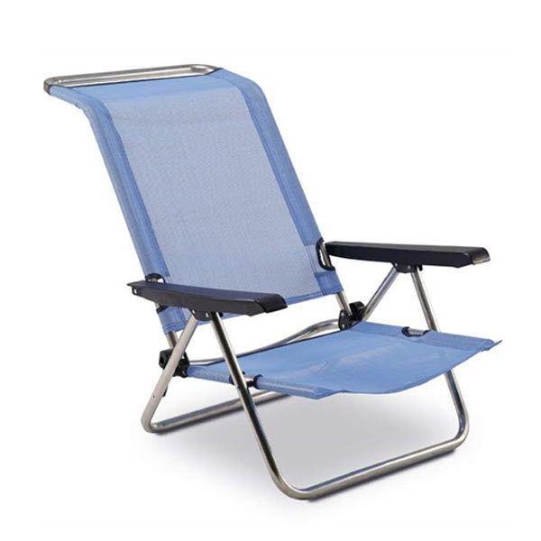 chaise de plage lit 5 positions