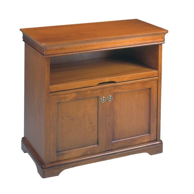 meuble tv 2 portes lopene l 86 x l 46 x h 80 cm