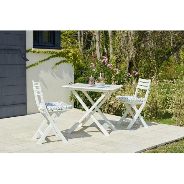 set balcon 1 table 2 chaises blanc