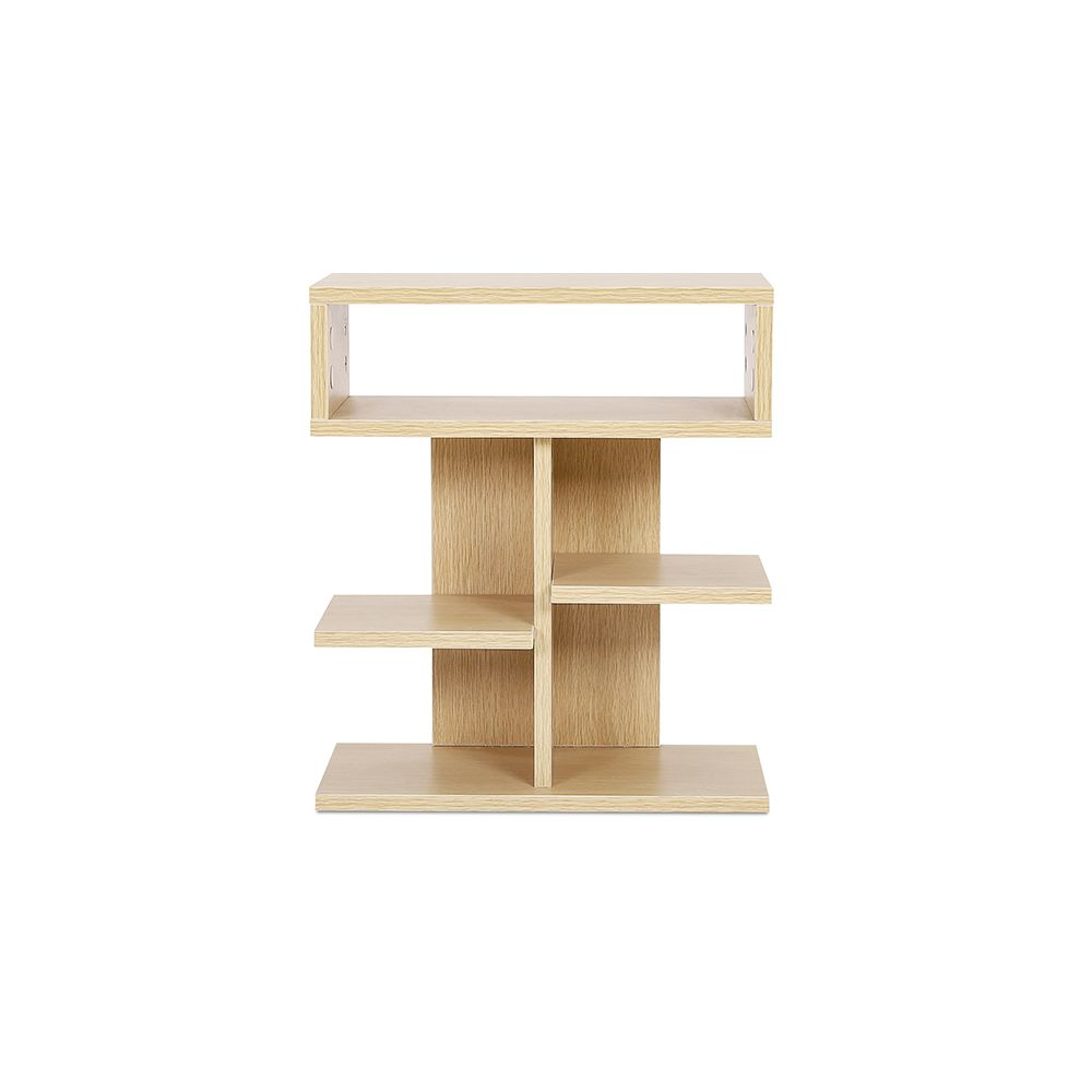 privatefloor etagere basse de style scandinave avec 5 compartiments bois