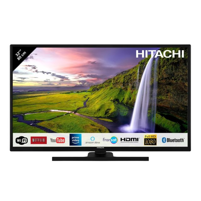 hitachi televiseur led 32 80 01cm full hd avec alexa smart tv netflix