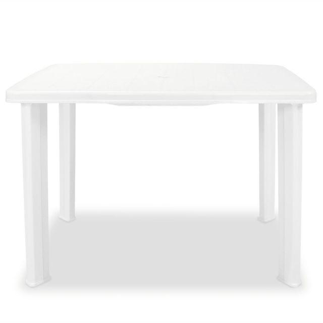 tables d exterieur inedit table de jardin 101 x 68 x 72 cm plastique blanc
