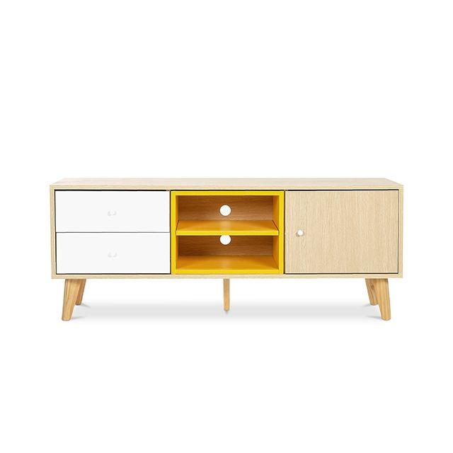 meuble de tv buffet style scandinave daven bois