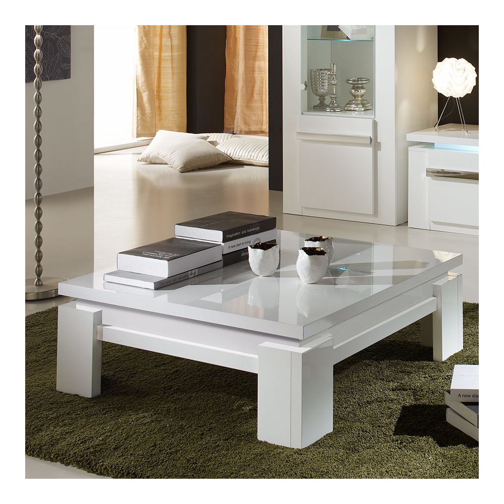 kasalinea table basse carree blanche laquee design ralph