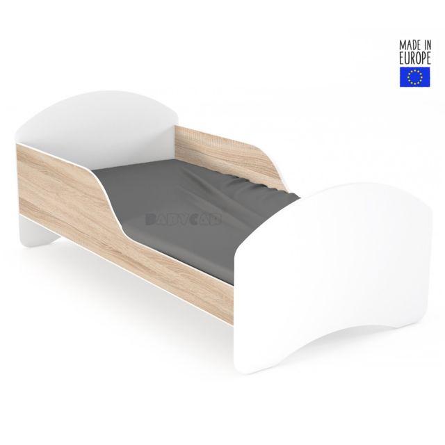 lit enfant 70x160cm avec matelas sommier barre de securite leo2 s0