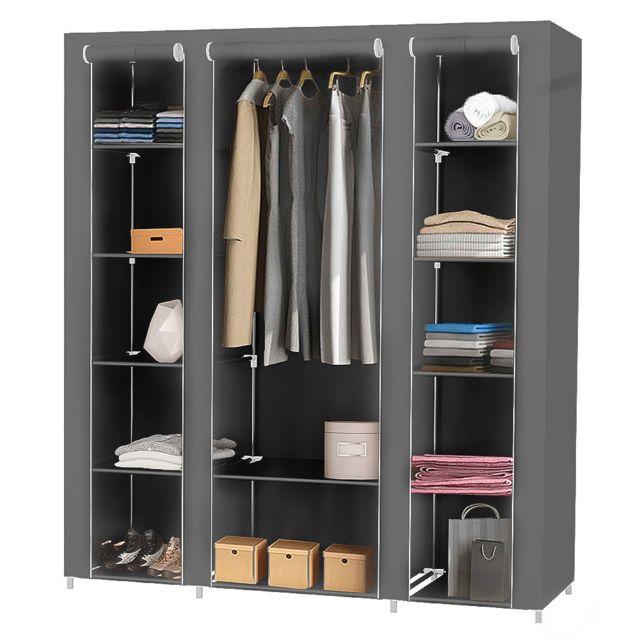 garde robe transportable armoire de rangement penderie en tissu intisse avec