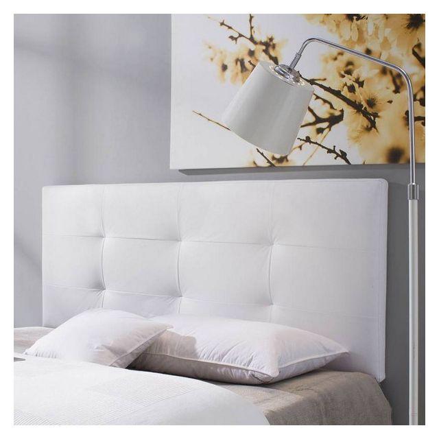 tete de lit carla 150x60 blanc