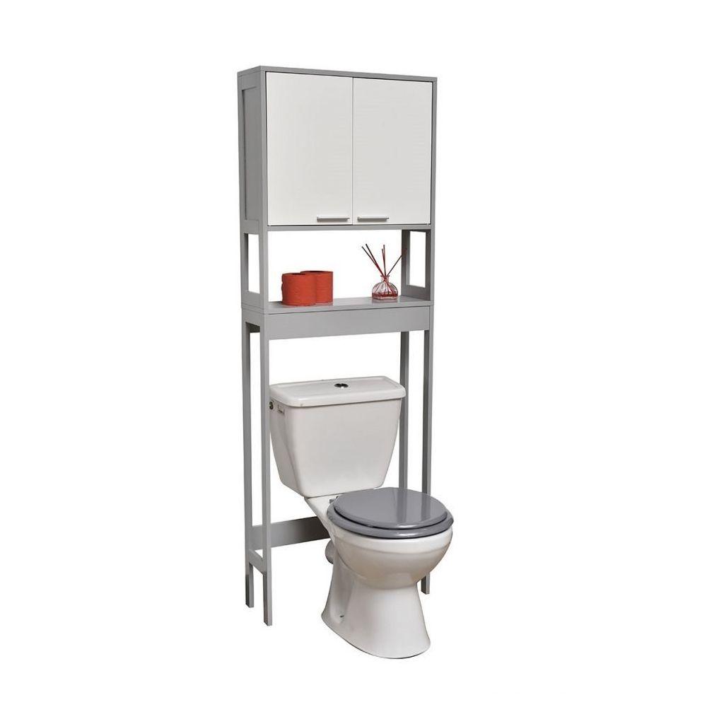 tendance meuble dessus wc blanc gris