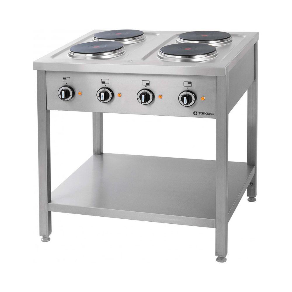 materiel chr pro piano de cuisson electrique professionnel 4 plaques prof 700 stalgast 700