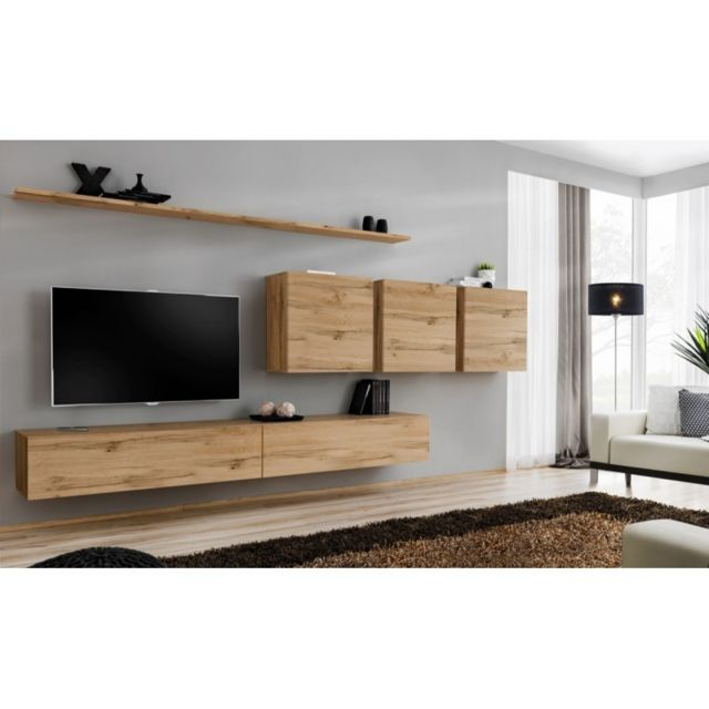 meuble tv mural design switch vii 340cm naturel