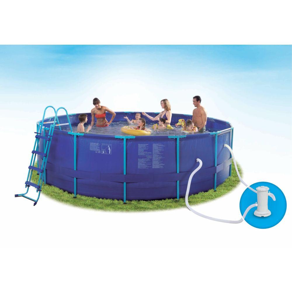 carrefour piscine tubulaire ronde madagascar dia 457 x h 122 cm