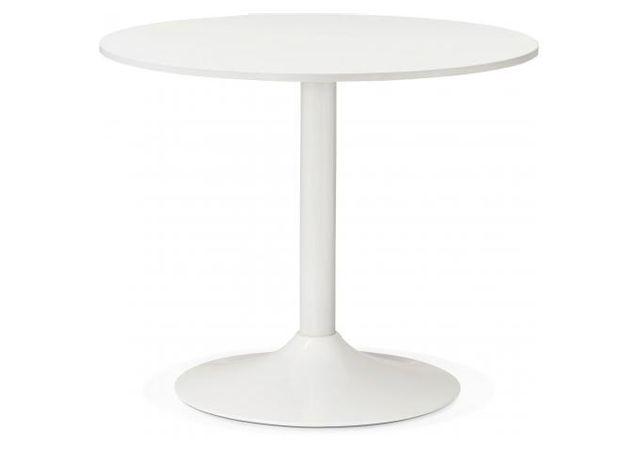 table ronde bois blanche d90 albury