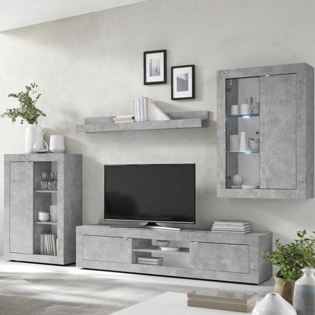 ensemble meuble tv design effet beton gris ariel 4