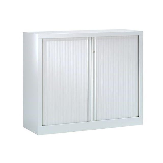 armoire hauteur comptoir a rideaux monoblocs eco concues 100 x 120 cm gris
