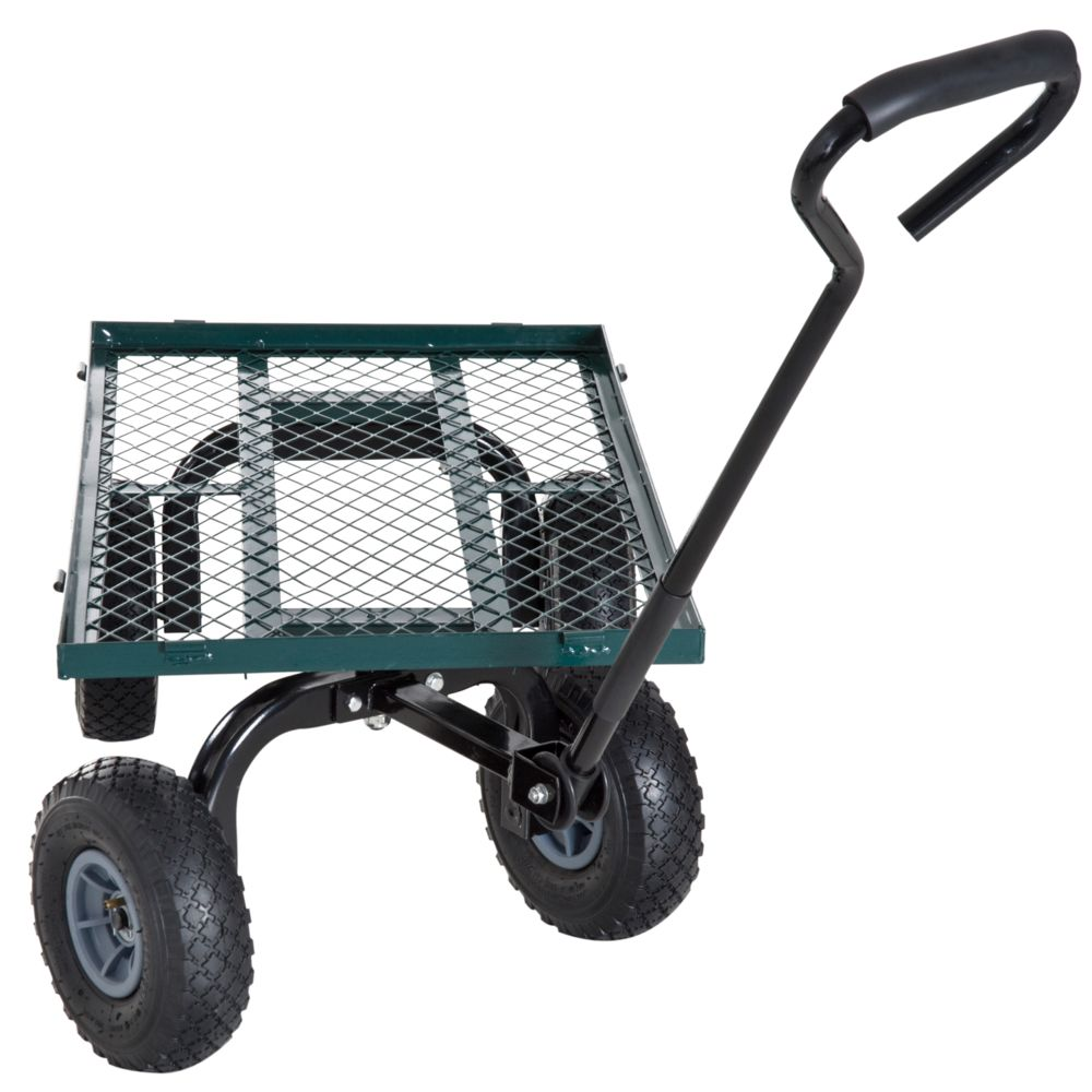 outsunny chariot de transport jardin