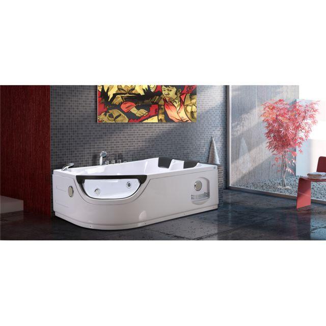 baignoire balneo massante baignoire d angle bain tourbillon mod elite 180