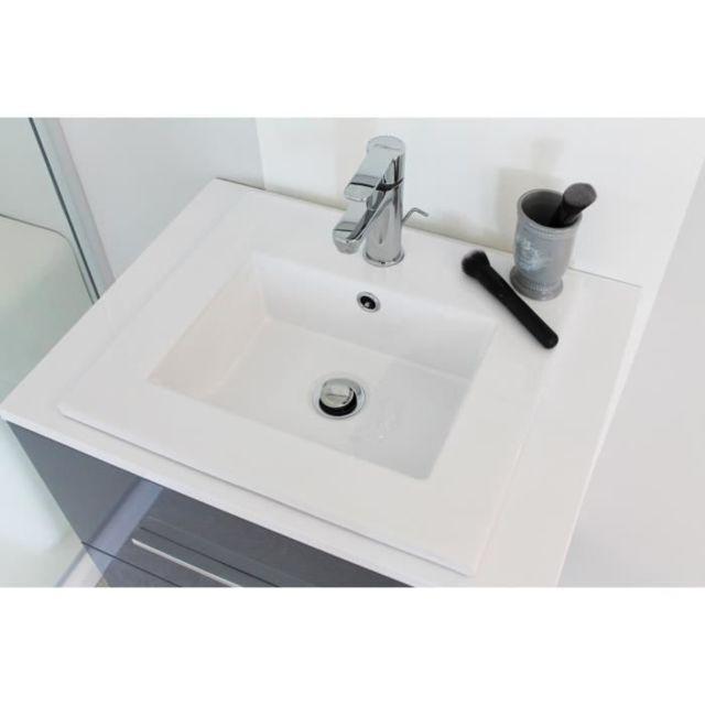 lavabo vasque plan en ceramique extra plat l45xp40xh15 cm