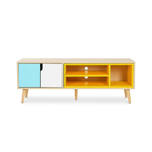 meuble de tv buffet style scandinave bjorn bois