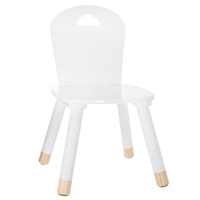 chaise enfant en bois douceur blanc