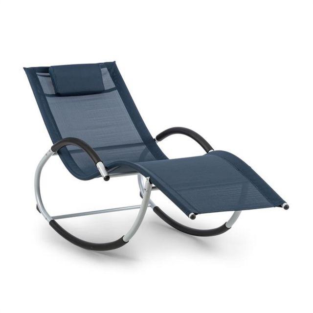 blumfeldt westwood rocking chair fauteuil a bascule cadre aluminium bleu