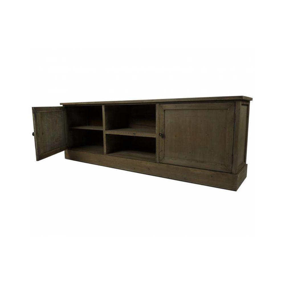 l heritier du temps meuble tv tele console de salon grand meuble bas de rangement etageres placards en bois patine 32 5x53x155cm