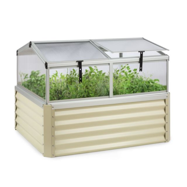 blumfeldt high grow advanced carre de potager sureleve avec toit 120 x 95x