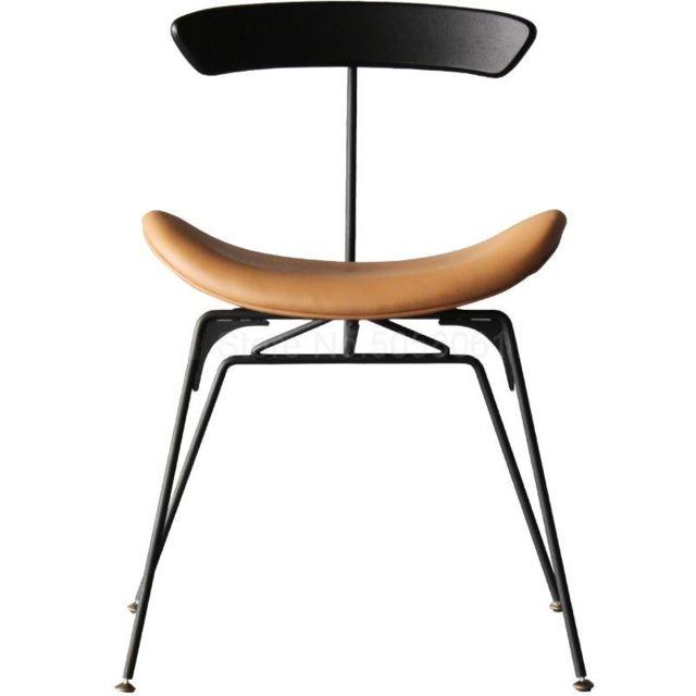 chaise nordique en fer de style industriel pour la maison simple home designer