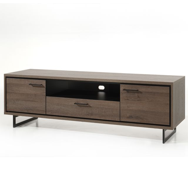 meuble tele 180 cm couleur chene fonce estelle