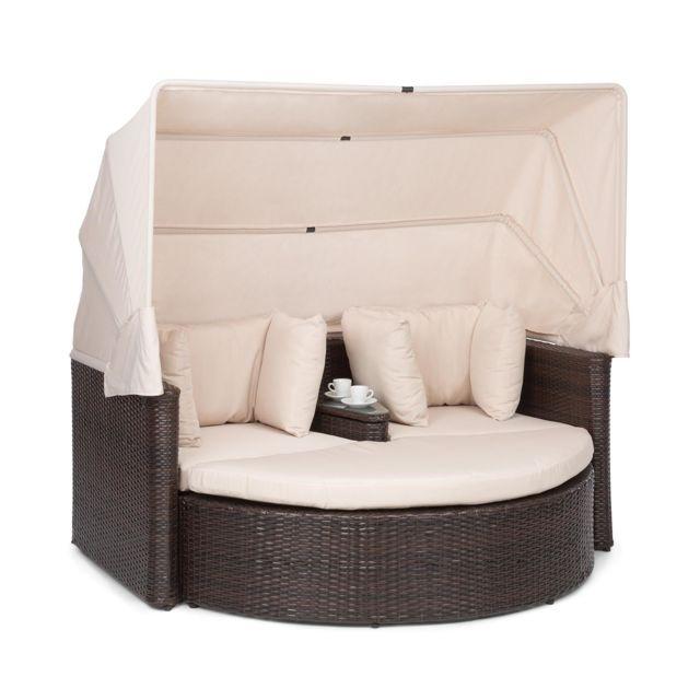 blumfeldt heartland canape lounge de jardin 2 places avec tabouret table