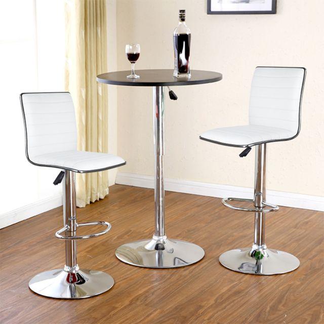 2pcs tabouret de bar tabouret de bar design chaise de bar noir pivotant et