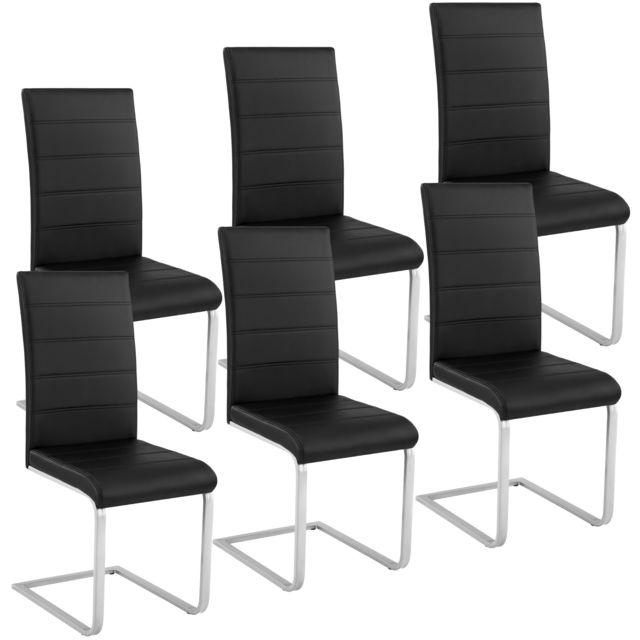 lot de 6 chaises bettina noir