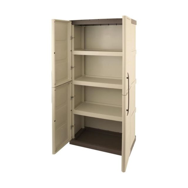 sogenex armoire de rangement haute en resine 3 tablettes