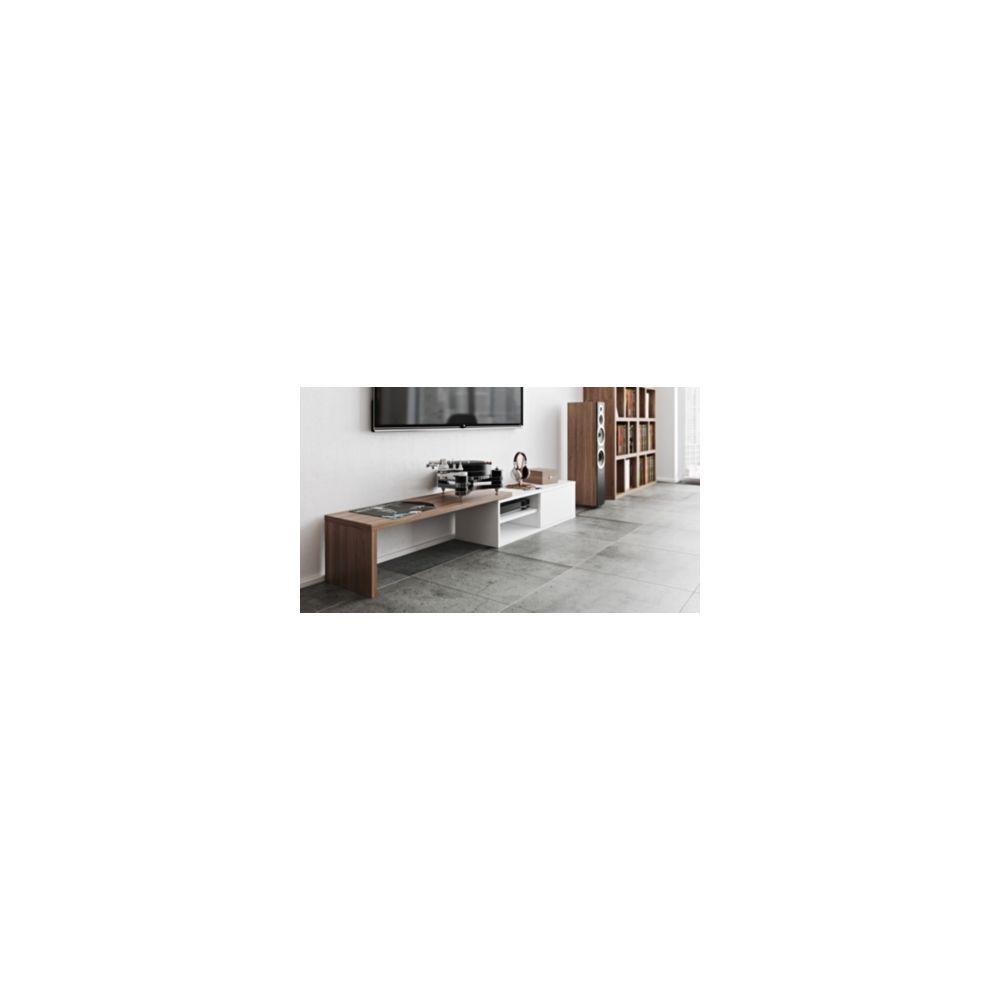 camif meuble tv torre blanc noyer