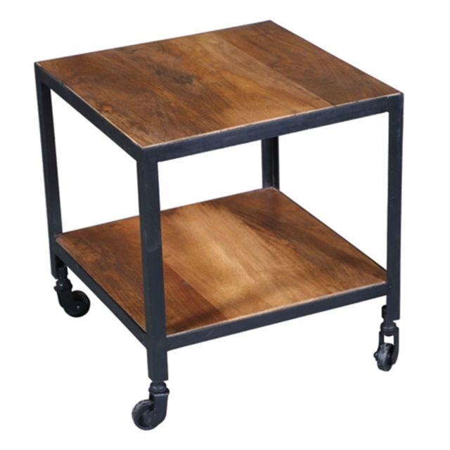 bosque table basse a roulettes